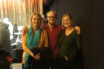Filmskaparna Marianne Gustavsson och Lisa Belfrage med Brevnovellers Jens Klitgaard
